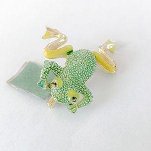Antique Frog Brooch